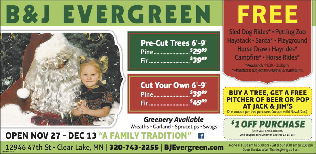 2015 BJ Evergreen Ad